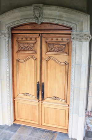 9 6 x 6 6 foot carved solidoak french chateau like front doors